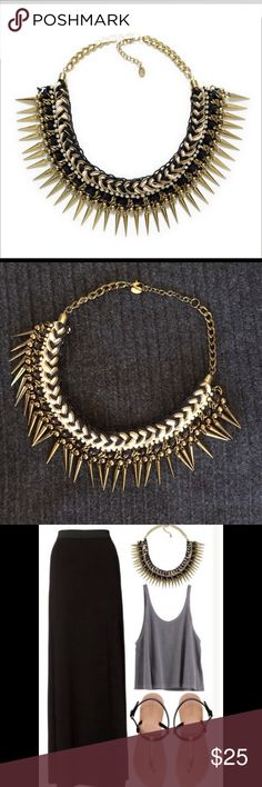 Zara necklace ZARA SPIKED NECKLACE. IN MID CONDITION. HAS SOME RUST, AN EXAMPLE IS IN PIC 4. Zara Accessories