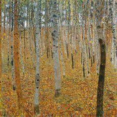 Gustav Klimt - Forêt de bouleaux