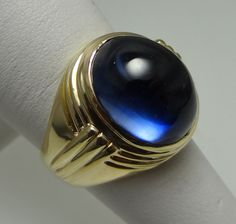 Sapphire Stone set in 10K Solid Yellow Gold.