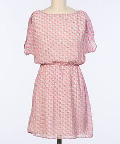 Another great find on #zulily! Pink Square Blouson Dress by Hello Miss #zulilyfinds