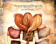 """""""Three Sisters Best Friends"""" by Claudia Tremblay Sisters Forever, Friends Forever, Claudia Tremblay, Sisters Art, Three Sisters, Soul Sisters, Three Daughters, Sibling Gifts, Love My Sister"""