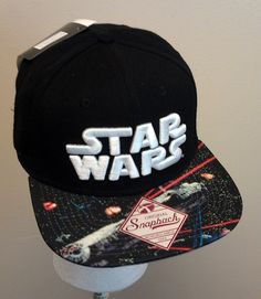 Star Wars Cap Hat Embroidered Orig Snapback Flat Bill NEW/NWT Licensed Disney #StarWarsLucasFilmsDisney
