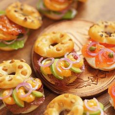 WIP of the past work in 2011. Bagel sandwiches! ;) miniature dollhouse food