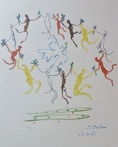 "PABLO PICASSO ""Danse""THE DANCE OF YOUTH SIGNED HAND NUMBERED 718/1000 LITHOGRAPH"