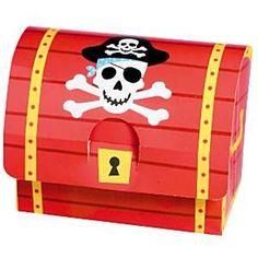 Pirates Treasure Party Boxes Size 4 25cm x 3 25cm x 6