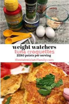 Weight Watchers Tuna Croquettes Recipe Zero points per serving - The Staten Island family Ww Recipes, Real Food Recipes, Healthy Recipes, Healthy Breakfasts, Healthy Dinners, Family Recipes, Lunch Recipes, Summer Recipes, Smoothie Recipes