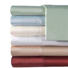 Veratex, Inc. Supreme Sateen 500-Thread Count Solid Bedding Sheet Set, Green