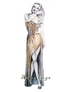 sketch by Anya Voge. Maria Gimmi · Disegno di moda f4c407de113
