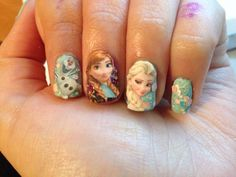 Frozen Nail Design I did