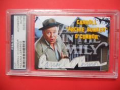 CARROLL O CONNOR-ARCHIE BUNKER!! CUSTOM signed CUT  Auto  CARD-PSA/DNA 1/1