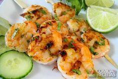 Receita de Espetinho tailandês de camarão em receitas de crustaceos, veja essa e…