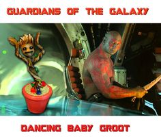 Guardians of the Galaxy: Michael Rooker & Dave Bautista Reenact Dancing Baby Groot - IGN Baby Groot, Peter Quill, Marvel Characters, Marvel Movies, Gaurdians Of The Galaxy, Galaxy Movie, Dave Bautista, Groot Guardians, Michael Rooker