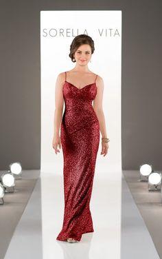 8884 Floor Length Sequin Bridesmaid Dress by Sorella Vita Bridesmaid dress ❤