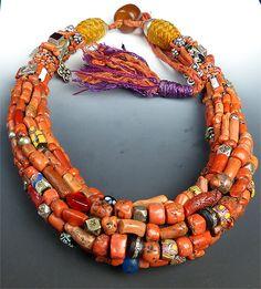 Berber, Coral, Morocco, Silver Jewelry
