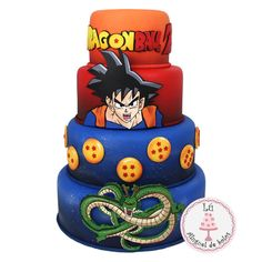Goku Birthday, Fairy Birthday Party, Tarta Dragon Ball, Dragonball Z Cake, Bolo Fake Eva, Anime Cake, Fiesta Cake, Amazing Cakes, Cupcake Cakes
