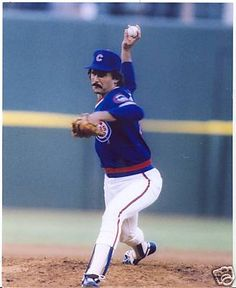 October 3  Happy Birthday to former Cubs starting pitcher, turned Hall of Fame reliever, Dennis Eckersly.  Photo from Ebay.