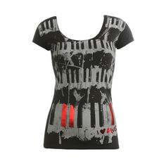 I Heart Music Tee - Teen Clothing by Wet Seal ($9.90) ❤ liked on Polyvore