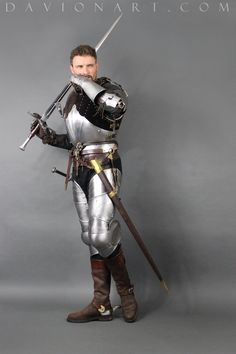 DeviantArt is the world's largest online social community for artists and art enthusiasts, allowing people to connect through the creation and sharing of art. Medieval Knight, Medieval Armor, Medieval Fantasy, Poses Dynamiques, Male Poses, Body Poses, Character Art, Character Design, Armor Tattoo