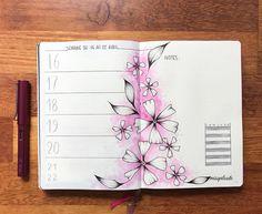 ack to pink and watercolor  #weeklylayout #watercolor #lamyfountainpen #bulletjournal #bulletjournalfr #bujolove #bujoidea #bujoflowers