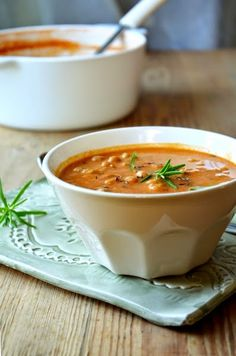 Sült paradicsom és csicseriborsó leves
