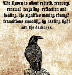 Raven Spirit bird clip art png Digital Image Download totem animal spirit quotes verses printable art