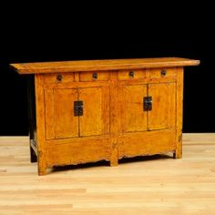 Antique Chinese Sideboard with Restored Original Lacquer (SOLD) Antique Buffet, Antique Sideboard, Sideboard Buffet, Oriental Furniture, Antique Furniture, Asian, American, Restoration, Chinese