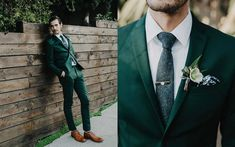 The colors of summer: emerald & green fashion green wedding Green Wedding Suit, Summer Wedding Suits, Wedding Tux, Summer Suits, Wedding Attire, Vintage Wedding Suits, Wedding Beach, Groom Attire, Groom And Groomsmen