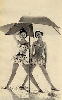 I wish swimsuits were still that modest!!! How gorgeous though!