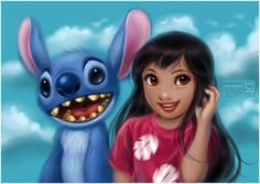 Lilo and Stich fanart Disney Kunst, Arte Disney, Disney Fan Art, Disney Love, Disney Magic, Disney Animation, Disney And Dreamworks, Disney Pixar, Disney Icons