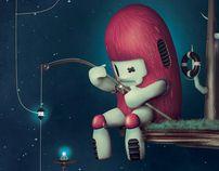 Fishing Stars by Julian Nuñez, via Behance
