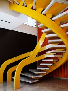 yellow Treppen Stairs Escaleras repinned by www.smg-treppen.de #smgtreppen