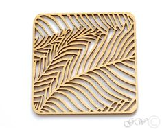 Laser Cut Wood Coaster. Birch Coaster. by GreenWoodLT on Etsy