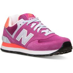 New Balance Women's 574 Core Casual Sneakers from Finish Line ($75) ❤ liked  on