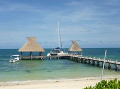 The private dock at Zoetry Paraiso de la Bonita in Puerto Morelos, Mexico