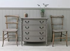 Ornate Bow Fronted Four Drawer Chest