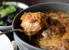 Dinner Recipe: Braised French Onion Chicken with Gruyère | The Kitchn (gosh this sounds good! Sans cheese for me.)