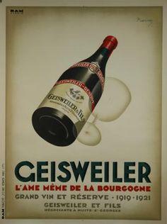 Affiche Geisweiler #vin #bourgogne #publicité
