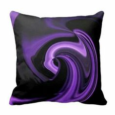 Amethyst Purple Abstract Heart Throw Pillow from Zazzle.com