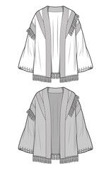 Foto stock, immagini, grafica, vettoriali e video esenti da royalty Cardigan Fashion, Sweater Cardigan, Flat Sketches, Fashion Flats, Video, Adobe, Manga, Sweaters, Sweater