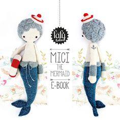Häkelanleitungen Puppe MICI die Meerjungfrau