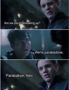 """Parabyebye"", Jace & Alec, now We are waiting season 2 of #Shadowhunters )"