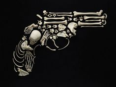 Art of Bones - Francois Robert #guns #photo #art