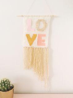 DIY Typography Woven Wall Hanging   Shauna Younge