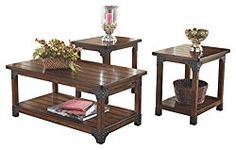 Ashley Furniture Signature Design – Murphy Coffee Table and End Tables – Cocktail Height – 3 Piece Occasional Table Set – Rectangular – Medium Brown
