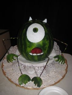 Fruit boat for Monsters Inc party - jessica@tinksmagicalvacations.com