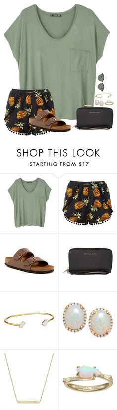 """~i want nothing but to know You~"" by taybug2147 ❤ liked on Polyvore featuring MANGO, Birkenstock, MICHAEL Michael Kors, Kendra Scott, ZoÃ« Chicco and Ray-Ban"