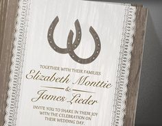 Western Horseshoe Wedding Invitations  Invites  by InvitationSnob, $21.50