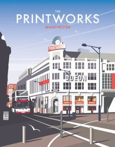 The Printworks, Manchester. By illustrator, Dave Thompson wholesale fine art print