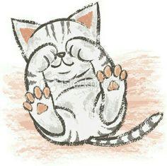 Innocent American Shorthair royalty free innocent American Shorthair stock vector art and more images of tabby cat I Love Cats, Cute Cats, Kitten Drawing, Drawing Art, Drawing Tips, Sleepy Cat, Animal Drawings, Drawing Animals, Cat Art