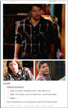 Dean's face is priceless